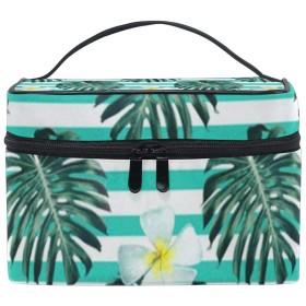 メイクポーチ 花 植物 化粧ポーチ 化粧箱 バニティポーチ コスメポーチ 化粧品 収納 雑貨 小物入れ 女性 超軽量 機能的 大容量