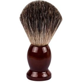 Lurrose ひげ ブラシ シェービング ブラシ ウッドハンドル ヘア サロンツール 男性用