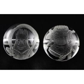 風神 水晶素彫り 12mm