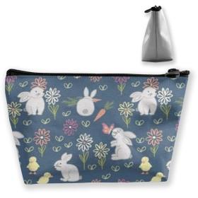 ウサギのニンジン 収納ポーチ 化粧ポーチ トラベルポーチ 小物入れ 小財布 防水 大容量 旅行 おしゃれ