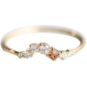 JIOLK リング 指輪 細身 重ねつけ 菱形 可愛い ビンテージ ジュエリー アクセサリー レディース