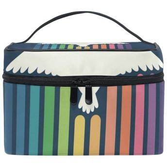 メイクボックス スワンリミット柄 化粧ポーチ 化粧品 化粧道具 小物入れ メイクブラシバッグ 大容量 旅行用 収納ケース