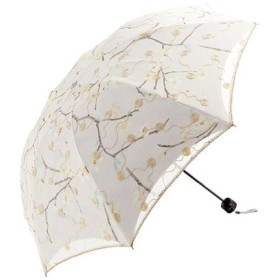 Royanney 日傘 uvカット 日傘 刺繍 遮光 母の日 ギフト日傘折りたたみ 日傘 レース 花柄 梅 遮熱 刺繍の日傘 刺繍日傘 折り畳み日傘 傘 一級遮光 エレガントな花柄の刺繍 母の日 プレゼント