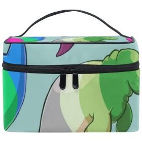 メイクボックス 鯨柄 化粧ポーチ 化粧品 化粧道具 小物入れ メイクブラシバッグ 大容量 旅行用 収納ケース