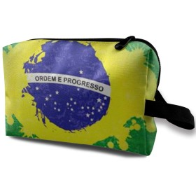 メイクポーチ ブラジル トラベルポーチ シングルファスナーポーチ 大容量 トラベル コンパクト 旅行収納バック 化粧品収納 便利グッズ 旅行・出張・家庭用