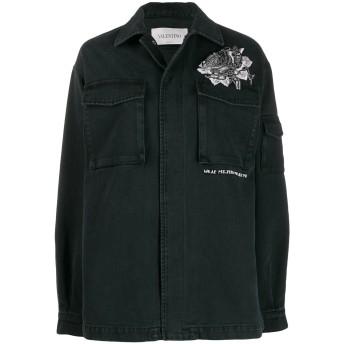 Valentino エンブロイダリー ジャケット - ブラック