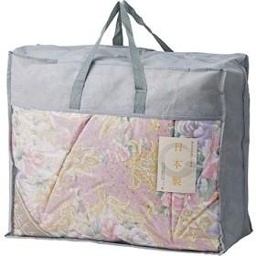 日本製 羽毛布団バッグ入り ピンク 【シングル おしゃれ 羽毛 通気性 ふわふわ やわらかい】