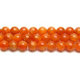 ハッピーボム Happy Bomb オレンジカルサイト 6ミリ 8ミリ 大粒 10ミリ 12ミリ 天然石 ビーズ バラ売り 半連売り 目標達成 試験合格 仕事運 パワーストーン ブレスレット 作成用
