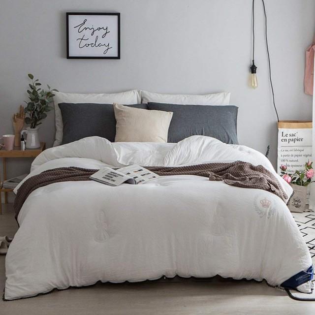WCH 冬と冬の暖かい暖かい寝具ダブルキルト厚い綿のキルト寝具 (Color : 白, サイズ : 220240cm(4kg))