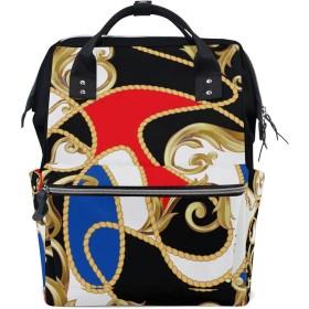 ママバッグ マザーズバッグ リュックサック ハンドバッグ 伝統的 抽象柄 用品収納 旅行用 大容量 多機能 出産祝い