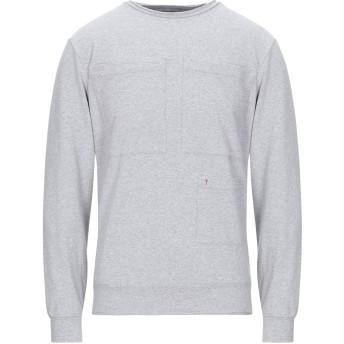 《期間限定セール開催中!》DANIELE ALESSANDRINI HOMME メンズ スウェットシャツ ライトグレー M コットン 95% / ポリウレタン 5%