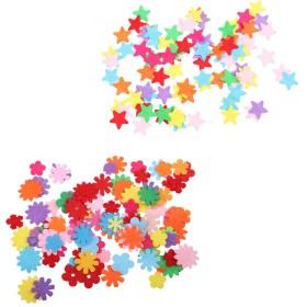 フェルト ダイカット アップリケ 星&バタフライ カラフル 家の装飾 約200個
