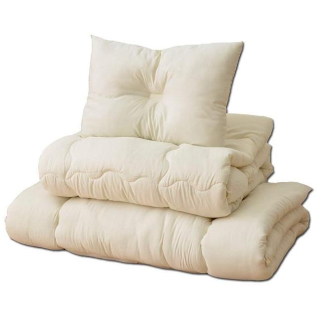 シングルロングサイズ「ヌード布団3点セット」【IT】(#9810092) 掛布団・敷布団・枕 寝具3点セット