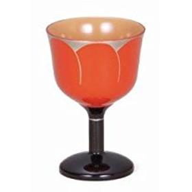 越前漆器 歳時記 【G4290-01】 朱 花弁ワインカップ 化粧箱 φ7.5×11cm