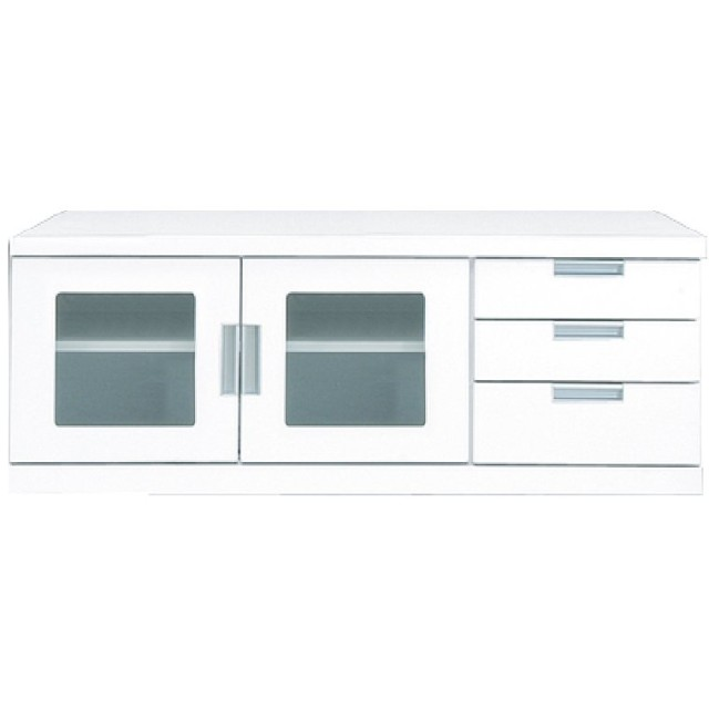 大川家具 関家具 ローボード (WILL) ウィル 120cm幅 ホワイト 048393