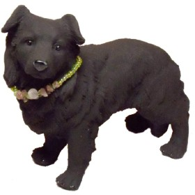 とるまワンコリアルシリーズ『備長炭』消臭 犬置物 動物フィギュア「ボーダーコリー」