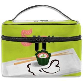寿司 化粧ポーチ メイクポーチ コスメバッグ 収納 雑貨大容量 小物入れ 旅行用