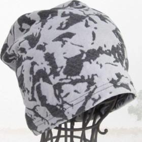 抗がん剤帽子 医療用帽子 フラワーコットンガーゼワッチ グレー