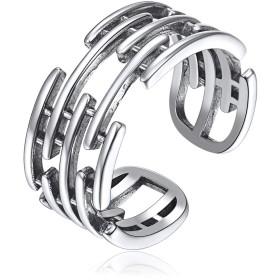 ChicSilver シルバー925 リング フリーサイズ レディース 指輪 シンプル 人気 メンズ ワイド 幅広 アクセサリー