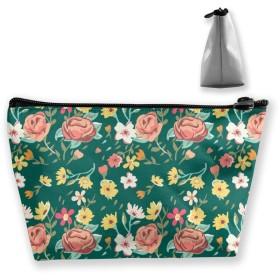ビンテージ 花柄 化粧ポーチ メイクポーチ コスメポーチ 化粧品収納 ミニ 財布 小物入れ 軽い 軽量 防水 旅行も携帯便利 多機能 バッグ 小さな化粧品の袋