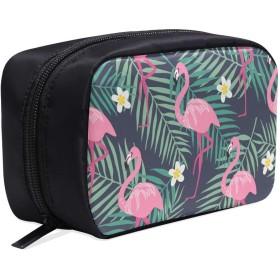GXMAN メイクポーチ ピンクフラミンゴ ボックス コスメ収納 化粧品収納ケース 大容量 収納 化粧品入れ 化粧バッグ 旅行用 メイクブラシバッグ 化粧箱 持ち運び便利 プロ用