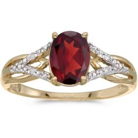 Jewels byラックス10Kイエローゴールドオーバル宝石とダイヤモンドリング、サイズ4.511に使用可能