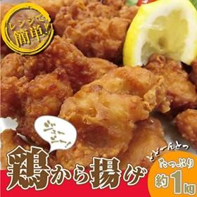 鶏の唐揚げ メガ盛り 1kg (レンジでOK・揚げたら尚美味しい) 《*冷凍便》