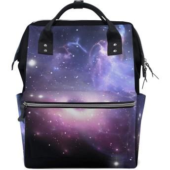 ANNSIN マザーズバッグ ママバッグ リュック バックパック ハンドバッグ 3WAY 多機能 防水 大容量 軽量 シンプル おしゃれ ベビー用品収納 出産準備 旅行 お出産祝い 宇宙 星系 惑星 スペース ブラックホール