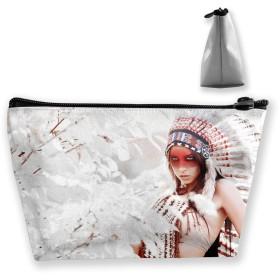 台形 化粧ポーチ アメリカン インディアン 女の子 学生 収納 小物入れ 小銭入れ ペンケース コイン財布 メイクボックス メイクポーチ コスメティックバッグ ウォレット