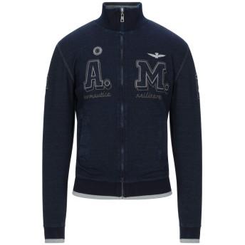 《期間限定セール開催中!》AERONAUTICA MILITARE メンズ スウェットシャツ ダークブルー L コットン 92% / ポリウレタン 8%