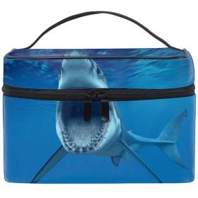 白サメコスメバッグ 化粧ポーチ メイクバッグ ギフトプレゼント用 携帯可能