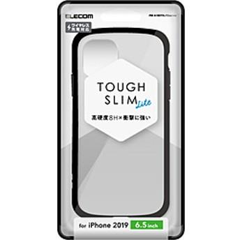 iPhone 11 Pro Max 6.5インチ用 TOUGH SLIM LITE フレームカラー ブラック PM-A19DTSLFCBK