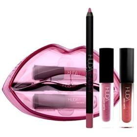 HUDA BEAUTY 限定版 Demi Matte & Cream Lip Set - Sheikha & Trophy Wife [海外直送品] [並行輸入品]