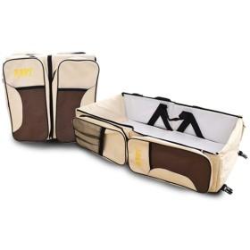 折り畳み式ベビーベッド ベビーベッド用 赤ちゃん 持ち運び ベッド  ベビー連れの旅行&外出などに 持ち運び便利 ショルダーバッグ に変われる