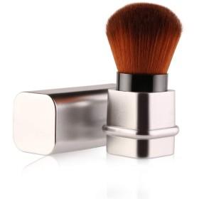 メイクブラシ ファンデーションブラシ 化粧筆 フェイスブラシ 伸縮式デザイン 可愛い 肌に優しい 携帯便利 (シルバー)