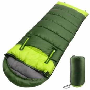 シュラフ 寝袋 封筒型 最新型手が出せる可能 最低使用温度-5℃ 1.1kg 220cm 1人用 丸洗いできる 連結可能 防水 コンパクト 収納便利 登
