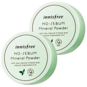イニスフリーノセボムミネラルパウダー5g x 2本セット韓国コスメ、innisfree No-Sebum Mineral Powder 5g x 2ea Set Korean Cosmetics [並行輸入品]