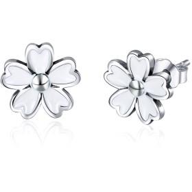 WOSTU S925 Cute Small Daisy Flower Stud Earrings for women 可愛い デージー フラワー スタッドピアス レディース ファッション ブランドデザイン