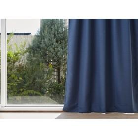 クォーターリポート カーテン(遮光1級) 幅100×丈178 グレン ネイビー 2枚組 日本製