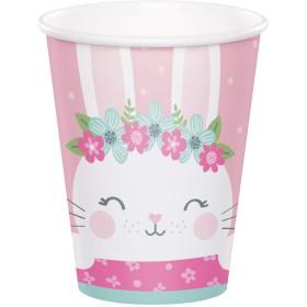Birthday Bunny Paper Cups - 8 Pk