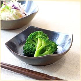 鉄結晶釉 角型 4.5寸小鉢 小鉢 付け出し 一品料理 お浸し鉢 ミニサラダ 和え物 スイーツ 黒い食器 和カフェ皿 和食器 国産 美濃焼