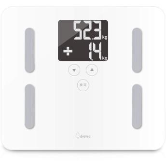 【最新モデル】dretec(ドリテック) 体脂肪計 体重 BMI 体脂肪率 最大計量180kg 前回の増減値を表示 デジタル バックライト ステップオン 乗ると自動で測定 クラベールプラス BS-247WT(ホワイト)