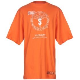 《期間限定セール開催中!》HERON PRESTON メンズ T シャツ オレンジ XL コットン 100% / ポリエステル