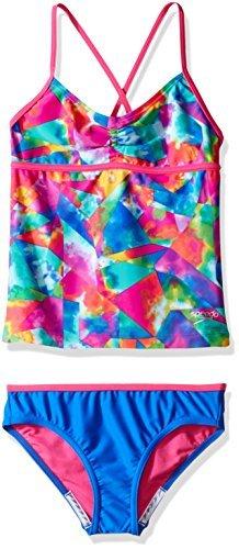 Speedo Women Girls tie dye Sky Two Piece Bikini Set