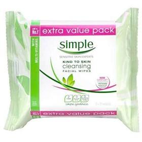 [Simple ] シンプルなクレンジングは、ツインパックワイプ - Simple Cleansing Wipes Twin Pack [並行輸入品]