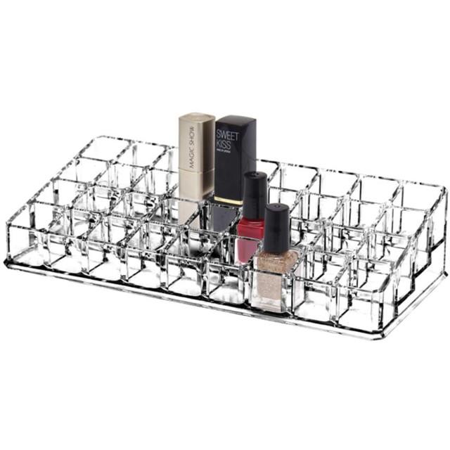 YunNasi 口紅収納ボックス 36本 アクリル製 リップ収納ケース コスメ小物入れ・化粧品収納ケース 透明 リップクリーム収納棚