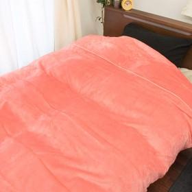 【吸湿発熱素材であったか!】フランネル 掛け布団カバー シングル 冬用 ピンク 吸湿発熱 静電気軽減 洗える あったか 布団カバー 無地 150×210cm シングルロング