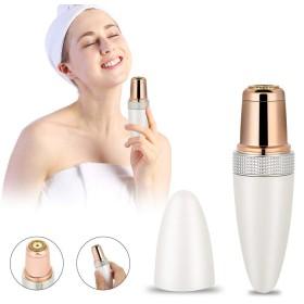 Sememe女性の顔の毛の除去剤、小型脱毛器の防水電気女性シェーバーの滑らかな接触痛みのない毛のトリマー速い有効な完璧な口紅の剃る装置(US-Plug)