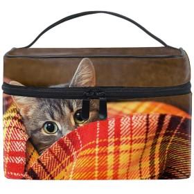 コスメポーチ 化粧品収納バッグ 洗面用具 おしゃれ動物の猫