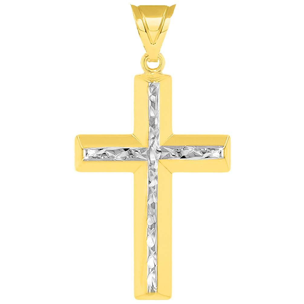 DiamondJewelryNY Sterling Silver Jerusalem Cross Pendant